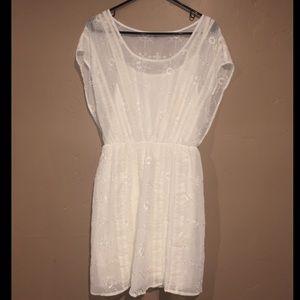White eyelet janey guess dress NWT size medium